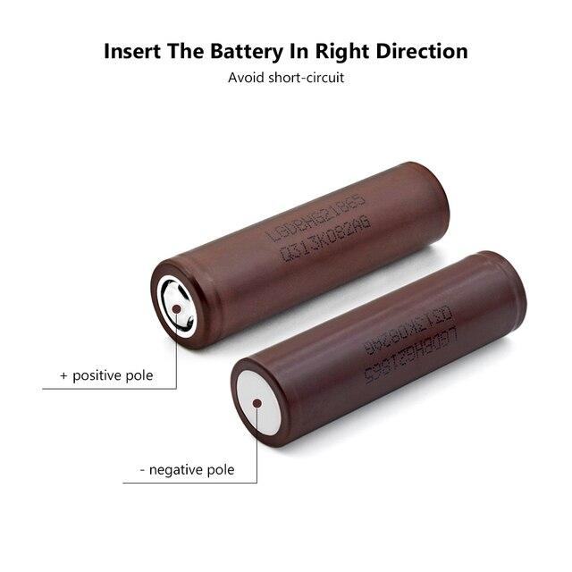 1/2/4/6/8/10 Pcs New INR18650-HG2 3.7 V 20A 3000mAh Flat 18650 Li-ion Batteries For Torch Headlamp Flashlight Battery Replace 3
