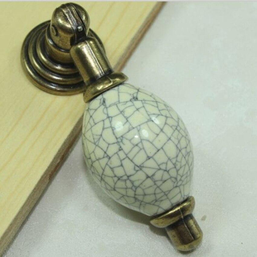 dresser pulls knobs vintage bronze shoe cabinet drawer knobs crack ceramic dresser cupboard furniture door shaky pendant handles