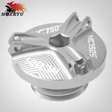For Honda NC 750S NC750S 750 S 2014-2015 M20*2.5 Motorcycle Accessories Aluminum Engine Oil Tank Cap Moto Filler