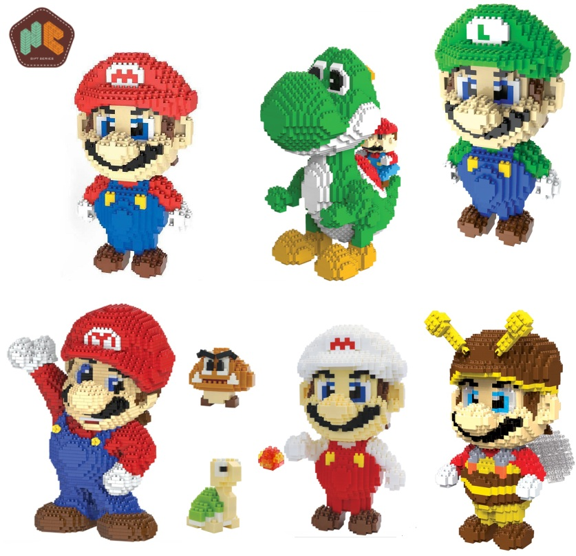 HC Magic Blocks Mario Japanese Popular Game Character Building Educational Bricks Yoshi Model Children Toys Kids brinquedos 9020 loz super mario kids pencil case building blocks building bricks toys school utensil brinquedos juguetes menino jouet enfant