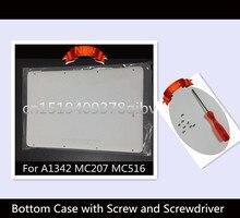 100% Новый 13 «ноутбук для macbook a1342 mc207 mc516 ll/604-1033 заменить белый нижняя нижняя крышка случая 2009 2010 лет с винтом