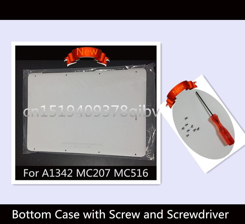 """Prix pour 100% Nouveau 13 """"ordinateur portable pour macbook a1342 mc207 mc516 ll/un 604-1033 remplacer blanc minuscule capot inférieur 2009 2010 ans avec vis"""
