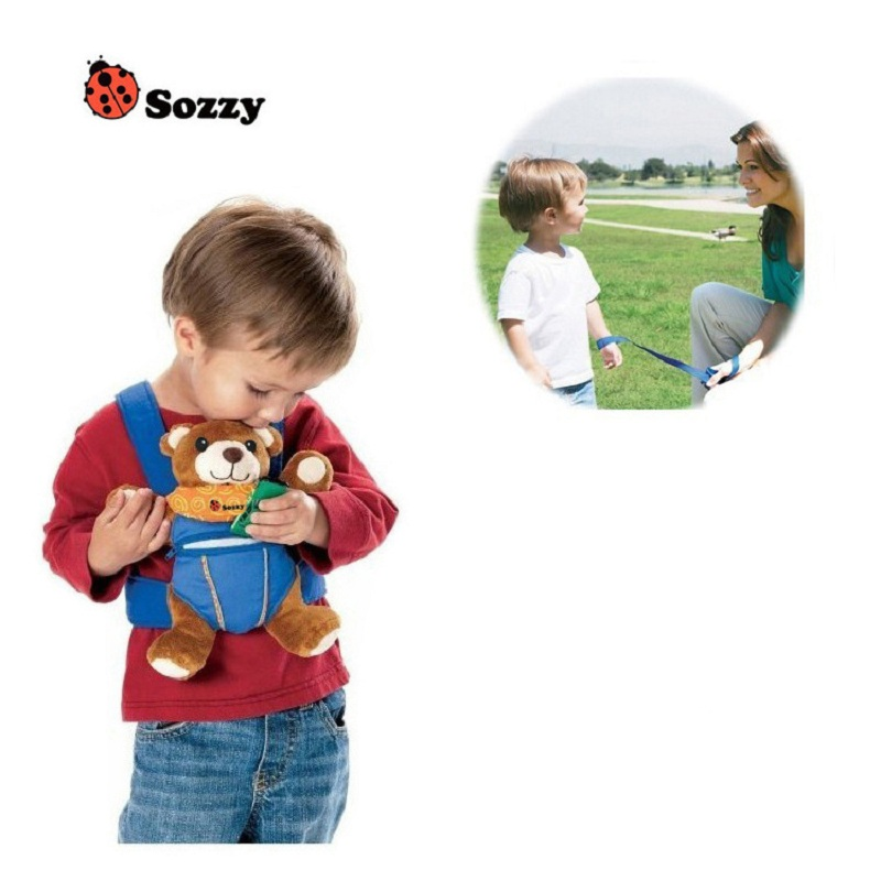 Sozzy Safety Backpack Rope Animal Toddler Walking Safety Kids Safety Anti-lost Walking Harness Backpack Belt Lion Elephant