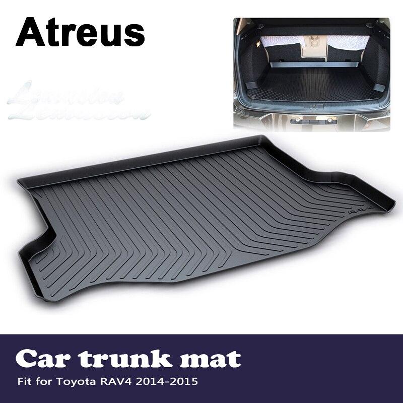 Atreus Car Accessories Waterproof Anti-slip Trunk Mat Tray Floor Carpet Pad For Toyota RAV4 2014 2015Atreus Car Accessories Waterproof Anti-slip Trunk Mat Tray Floor Carpet Pad For Toyota RAV4 2014 2015