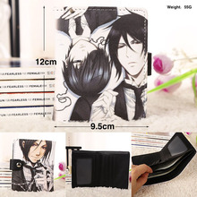 Anime Black Butler Synthetic Leather Short Exquisite Wallet/Ciel & Sebastian Button Purse
