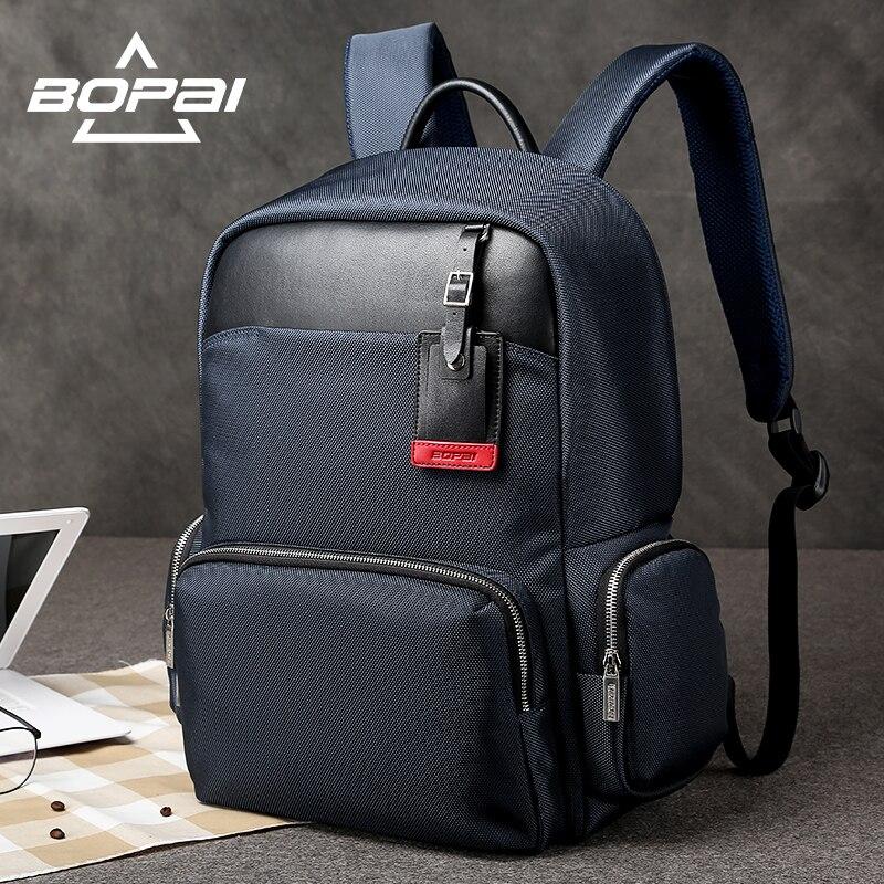BOPAI Men's Backpack Bag 14-15.6 inch Laptop Backpacks Men Male School Backpack Rucksacks For Teenagers Blue Bags Bagpack 2017 ноутбук msi gl62 6qd 454ru 9s7 16j612 454 intel core i7 6700hq 2 6 ghz 16384mb 1000gb dvd rw nvidia geforce gtx 950m 2048mb wi fi bluetooth cam 15 6 1920x1080 windows 10 64 bit