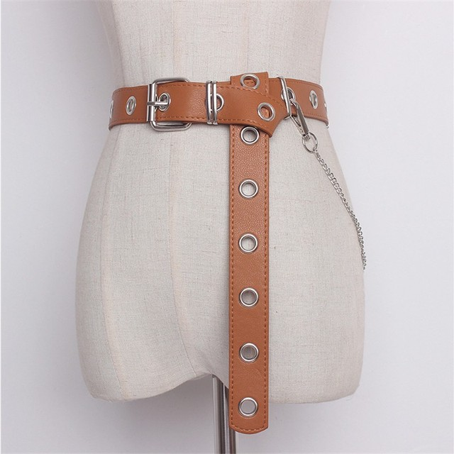 Detachable Waist Belt Chain Punk Hip-hop Trendy Women Belts
