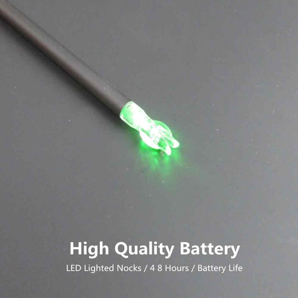 Bắn cung Mũi Tên LED Thắp Sáng Nocks 6.2mm/0.246 inch Tự Động Va Đập Đuôi Cho Hợp Chất Recurve Bows/Longbow Mũi Tên trục