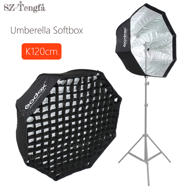 "GODOX 120cm / 48"" Portable Foldable Honeycomb Grid Octagon Umbrella Softbox Photo Studio Flash Speedlite Diffuser Reflector"