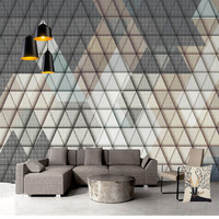 Geometric Diamond Wallpapers 3D Custom Photo Murals Leather for Living Room Bedroom Home Decor Nonwoven Wall Paper for Walls 3D