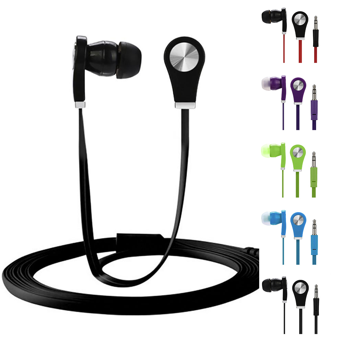 Mobile Phone Accessories Cheap In-ear Noodle Earphone Colorful Headset Hifi Earbuds Bass EarphonesHigh Quality Ear Phones image