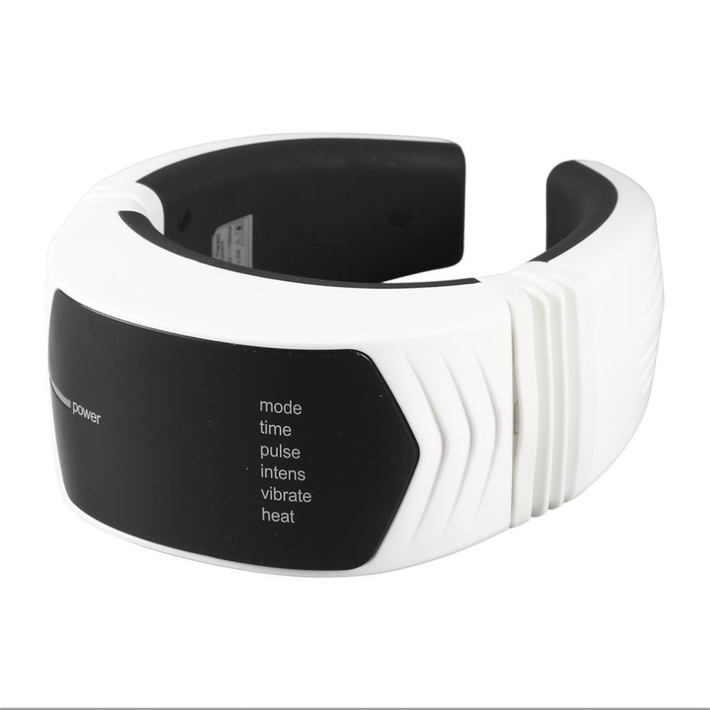 Wireless Remote Control Neck Therapy Massage Health Care Massager Cervical Therapy Instrument Far Infrared Heating Tool high end health care neck cervical traction ems therapy massage collar infrared heating magnet vibration massager pain relief