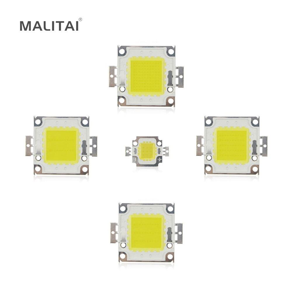 Белый/теплый белый 10 Вт 20 Вт 30 Вт 50 Вт 100 Вт свет чип DC 12 В 36 В удара Встроенная светодиодная лампа Чип DIY прожектор лампы