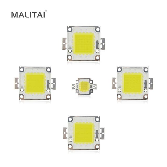 White / Warm White 10W 20W 30W 50W 100W LED light Chip DC 12V 36V COB Integrated LED lamp Chip DIY Floodlight Spotlight Bulb