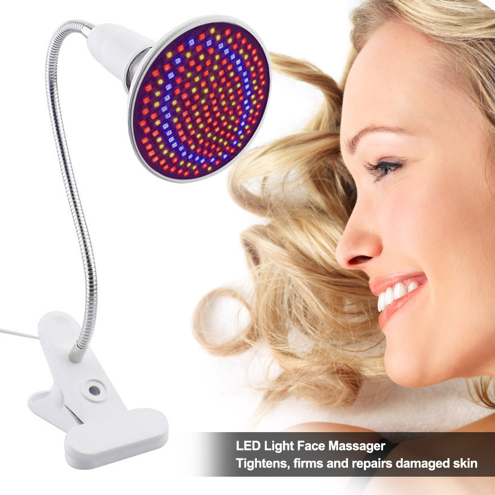 LED Light Photon Skin Rejuvenation Therapy Face Massager Electric Lamp Facial Anti Acne Wrinkle Removal With Lamp Holder US Plug(China)