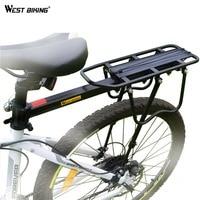 WEST BIKING Bike Rack Aluminum Alloy 50KG Luggage Rear Carrier Trunk for Bicycles MTB Bike Rear Shelf Cycling Bicycle Racks