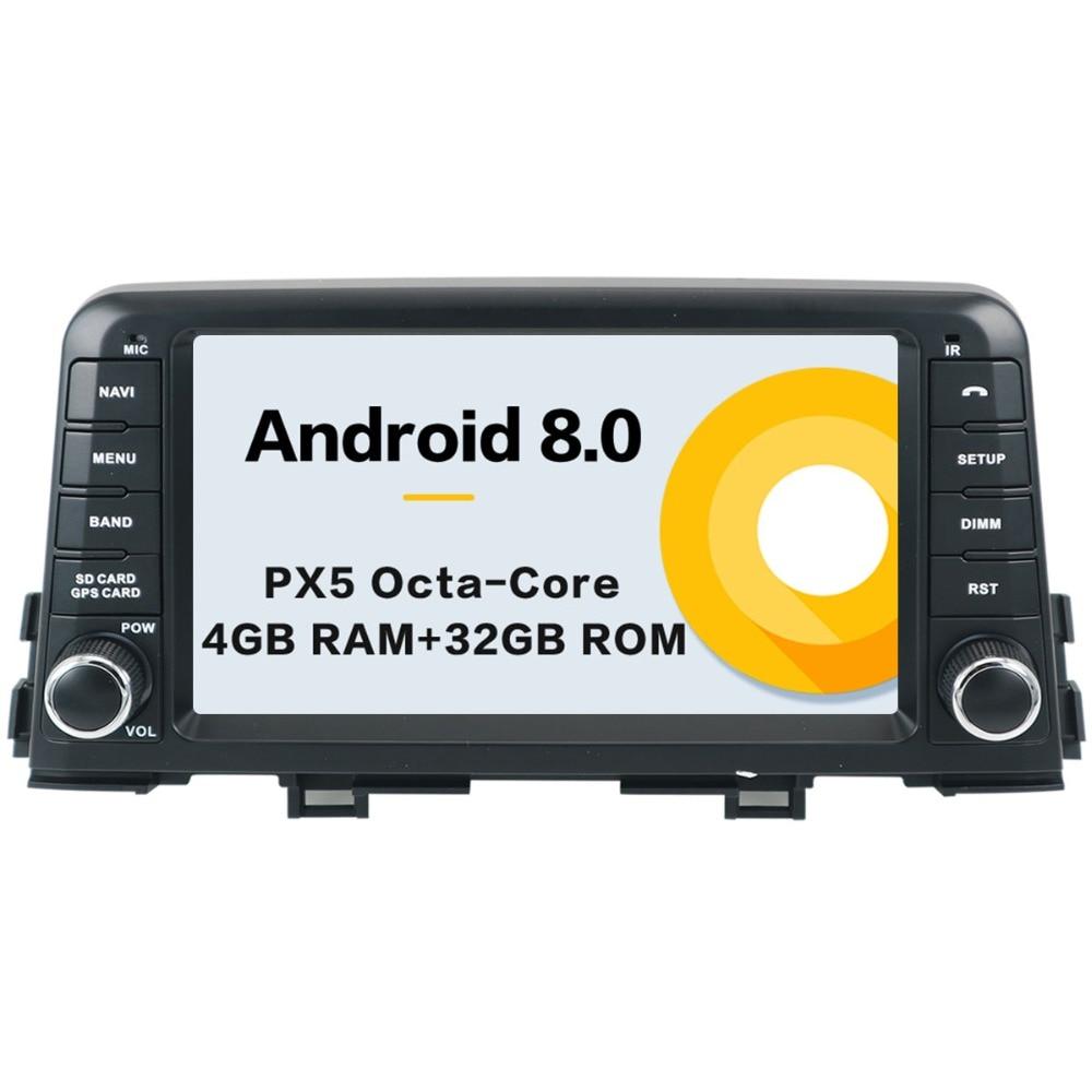 Android 8 Car No DVD Player GPS Navigation For KIA PICANTO MORNING 2017 2018 1 Din