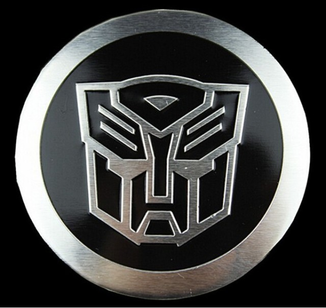 2x Auto Car Motor Transformer Sticker Autobot Logo Emblem Badge