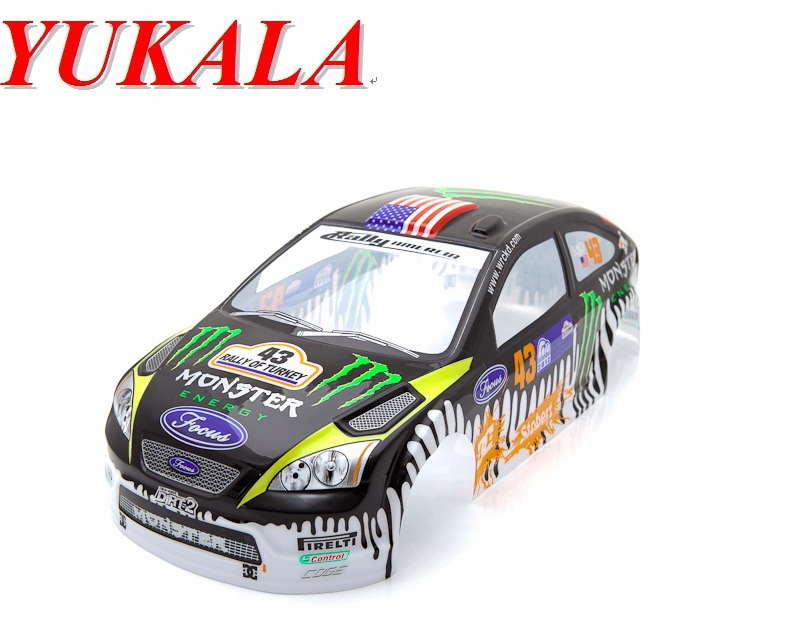 YUKALA 1/10 rc car parts PVC body shell for 1:10 R/C car 190mm No:051 free shipping