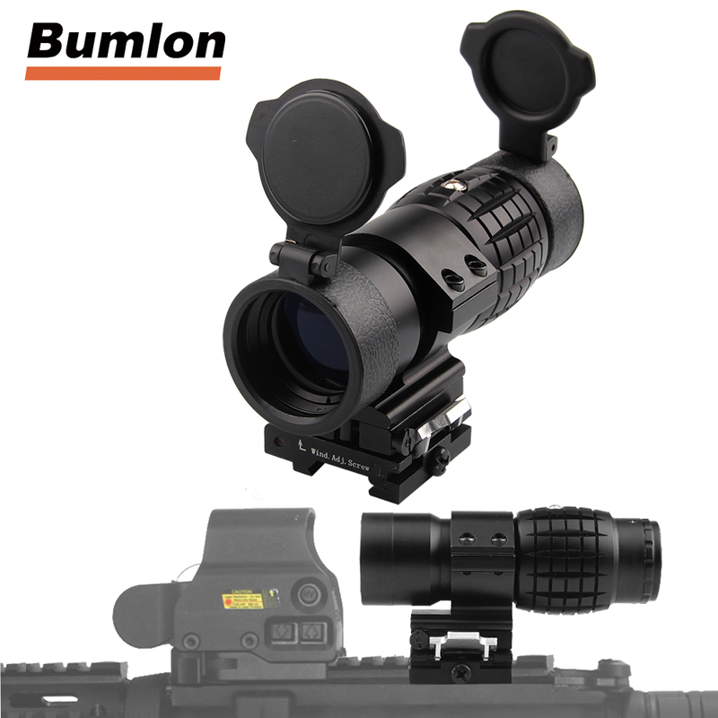 Tactical 30mm 3X Magnifier Scopes Optics Focus Adjusted Fits Red Dot Sight with Picatinny Weaver Rail Mount With Covers HT6-0067Tactical 30mm 3X Magnifier Scopes Optics Focus Adjusted Fits Red Dot Sight with Picatinny Weaver Rail Mount With Covers HT6-0067