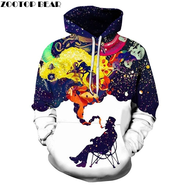 info for 20790 99164 3D Colorful Smoke Smoking Printed Hoodies Men Women Hooded Sweatshirts  Autumn Winter Outwear Csual Pullover Fashion Tracksuits