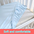 1 pc 100% Cotton Solid color soft baby mattress cover fitted sheets crib bed sheet kids bedspread antiskid elastic multicolor