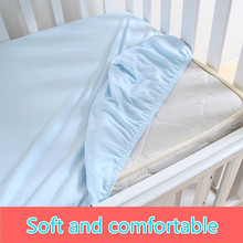 1 Pc 100 Cotton Solid Color Soft Baby Mattress Cover Ed Sheets Crib Bed Sheet