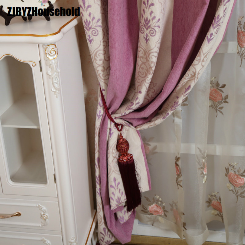Chenille Jacquard Curtain Thickening High-end European Luxury Curtains For Bedroom Living Room Windows Shading Custom
