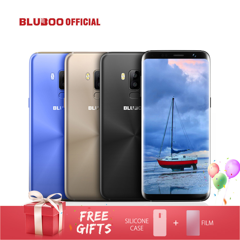 BLUBOO S8 5,7 ''4G Smartphone 18:9 Vollständige Anzeige MTK6750 Octa-core 3 GB RAM 32 GB ROM Dual Rückfahrkamera Android 7.0 Handy
