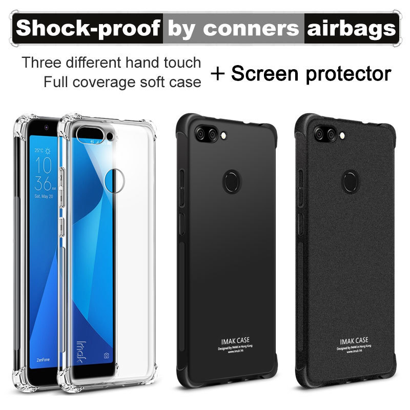 Asus Zenfone Max Plus M1 Case Asus X018D Cover IMAK Soft TPU Back Cover Case For Asus Zenfone Pegasus 4S Max Plus ZB570TL