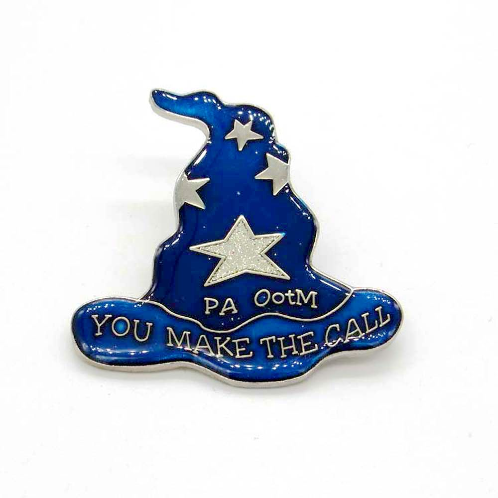 2017 New design Magic Hat pin badge custom soft enamel with epoxy metal badge pin