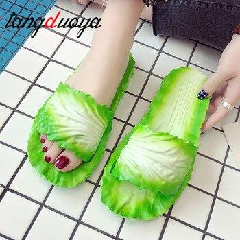 flip flops for women female slates Women's Slippers Home Bathroom Flip Flops Funny Shoes Cabbage shoes women Outdoor Slides Lady