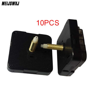Wholesale 10pcs Mechanism With Hands Long Axis Quartz Movement Clock Movement Mute Slab Dedicated Long Thread Axis Length 28mm
