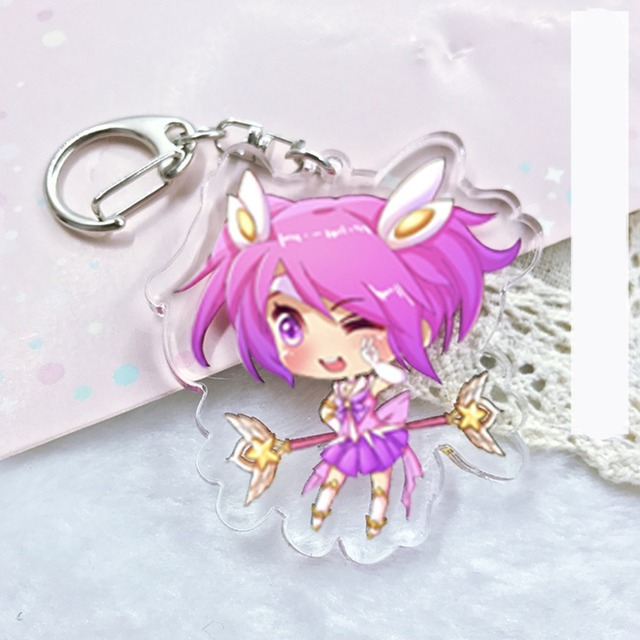 League of New Legends Acrylic keychain LOL Soraka Lee Sin Jinx ashe funny cute pendant Jewelry Accessory Chaveiro Llaveros gifts