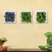 Plastic DIY Flower Photo Frame With Double-adhesive Tape 3D Simulation Plants Ornament Artificial Sticker Home Decor