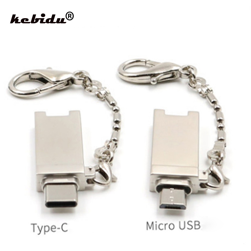 Card Readers Supply Kebidu Mini Pocket Type C Micro Usb Otg Card Reader Keychain Menory Card Adapter Support Micro Sd/tf For Xiaomi Laptop Table Catalogues Will Be Sent Upon Request