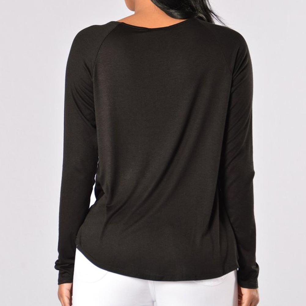 HTB1SJpJSFXXXXaKaXXXq6xXFXXXQ - Women's Long Sleeve Deep V Neck Front Cross Loose Shirt JKP245