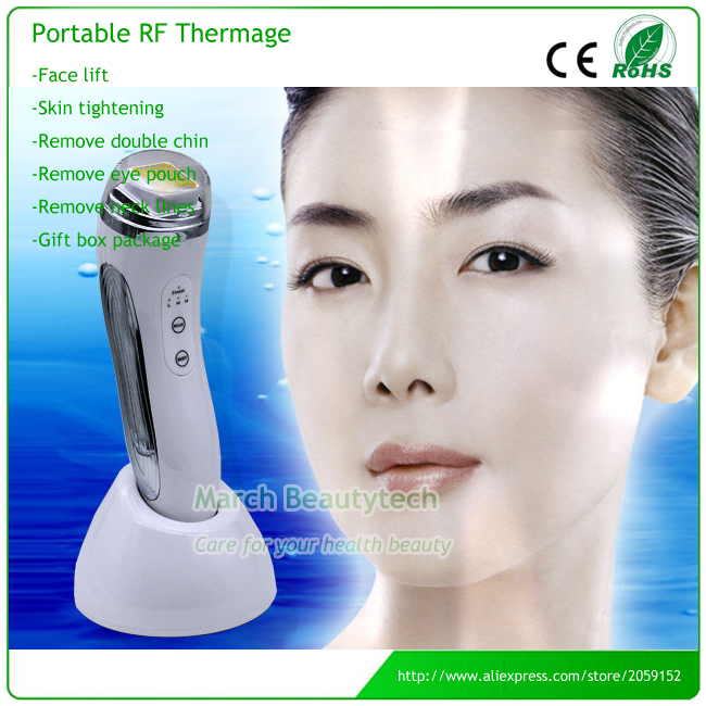 Portable Rechargeable Anti-aging Skin Whitening Facial Pores Firming Infrared RF Radio Frequency Beauty Machine with Retail Box levitasion набор relax skin beauty box