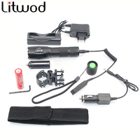 Z50 Hunting light LED flashlight lighting XM-L T6 5000Lm zoomable torch lantern portable light Remote Switch Charger tool box
