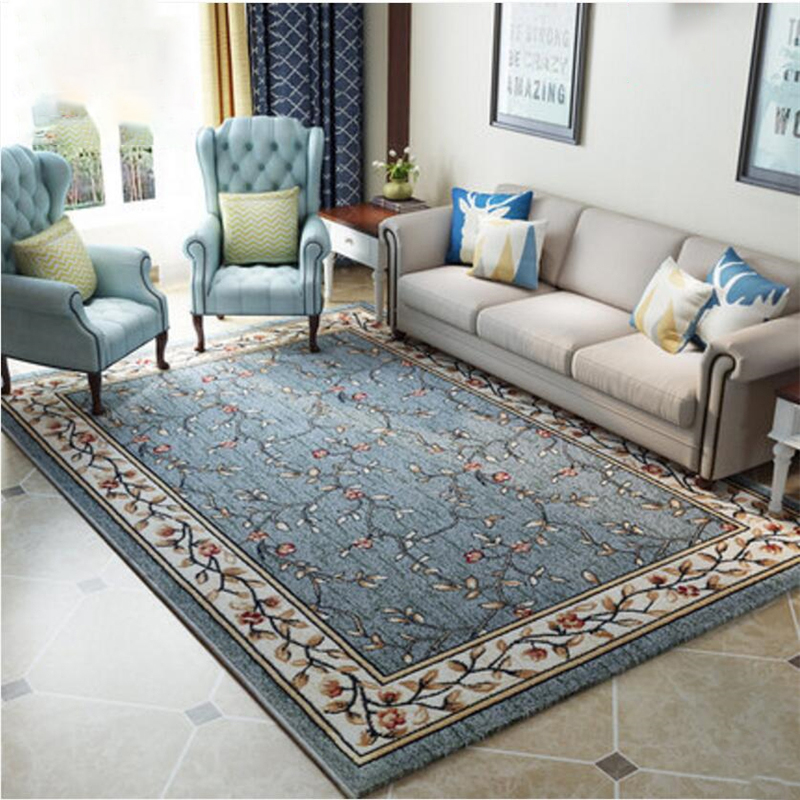 Ameraian Style Luxury Polypropylene Delicate Carpets For Living Room Bedroom Carpet Home Carpet Fashion Area Rug Floor Door Mat