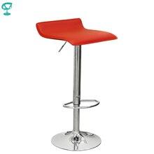 94527 Barneo N-38 эко-кожа кухонный барный стул с мягким сиденьем на газ-лифте цвет красный мебель для кухни кресло для броу бара по России