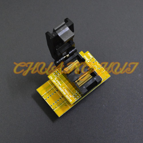 CH-DP(T)SSOP48-DIP48 Adapter IC51-0562-1387 test socket TSSOP48 to DIP48 Programmer Adapter Pitch:0.635mm Width=7.6mm/11.2mm fshh qfn32 to dip32 programmer adapter wson32 udfn32 mlf32 ic test socket size 3 2mmx13 2mm pin pitch 1 27mm