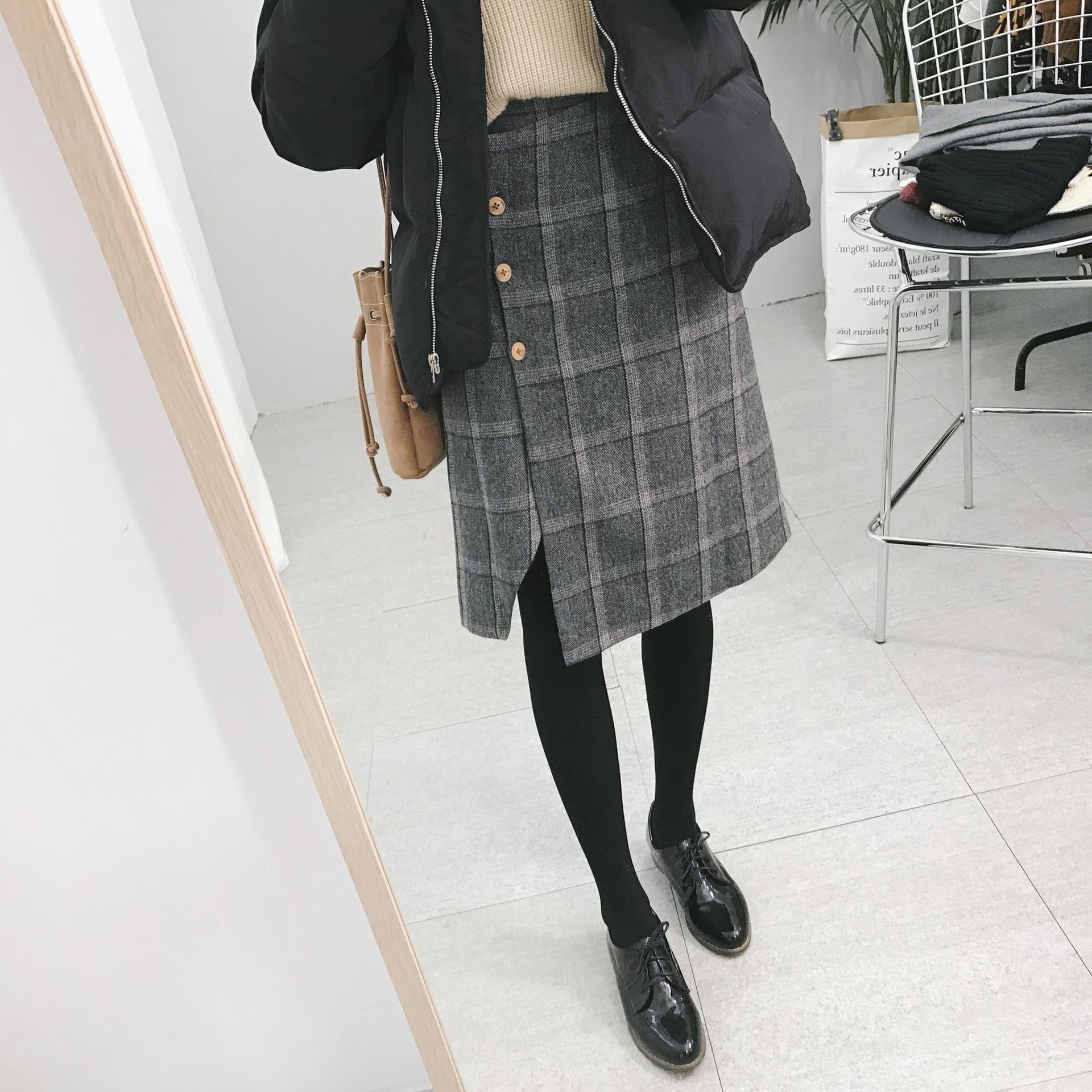 Popular Wool Plaid Skirt-Buy Cheap Wool Plaid Skirt lots from ...