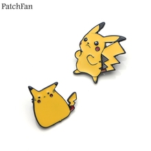 Patchfan Pocket monster Pikachu cartoon Zinc tie Pins backpack clothes brooches for men women hat decoration badges medals A1594