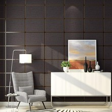 PAYSOTA High Quality 3D Deerskin Wallpaper Striped Bedroom Parlor Simple Modern Checkered TV Background Wall Paper Roll paysota 3d modern simple geometric graphics non woven wall paper cloth deerskin velvet bedroom tv wall paper roll