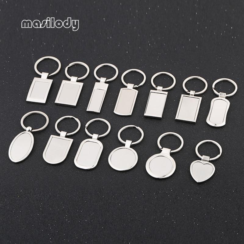 Takı ve Aksesuarları'ten Anahtar Zincirleri'de 100 adet/grup Metal Boş Anahtarlık DIY Logo Anahtarlık 12 Tasarımlar Anahtarlık Lazer Logosu'da  Grup 1