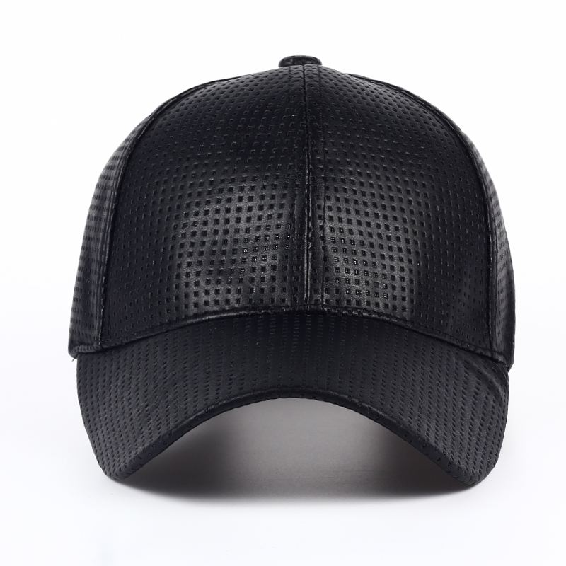 Wholesale Hot PU Black Baseball Cap Women Fall Leather Cap Trucker Cap Fitted Snapback Hats For Men Winter Hat For Women