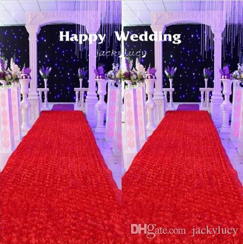 10 m / lot 1,4 m largeur romantique blanc 3D pétale de rose tapis - Pour les vacances et les fêtes - Photo 2