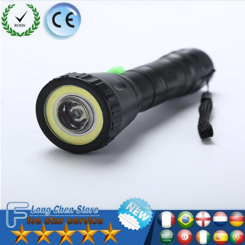 LED Torch flashlight handheld 9W LED Flashlight COB light light lamp home outdoor plastic Lamp Penlight For Outdoor lighting
