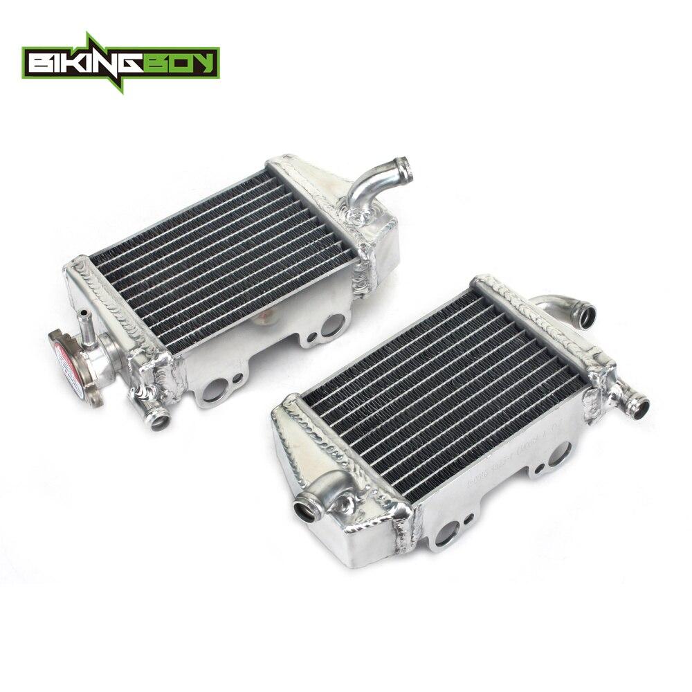 BIKINGBOY Aluminium Core MX Offroad Engine Radiator Cooling Cooler for KTM 65 SX SXS SX65 SXS65 2009-2015 2010 2011 2012 2013 14 стоимость